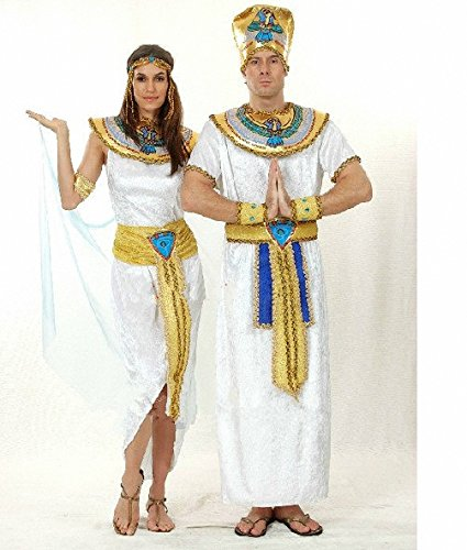 Halloween Cosplay Costumes of Egyptian Pharaoh Clothes for Man\womam\couple