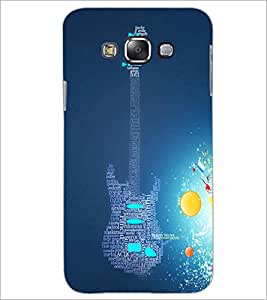 PrintDhaba Typographic Guitar D-3452 Back Case Cover for SAMSUNG GALAXY E7 (Multi-Coloured)