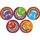 70 Colourful Rainbow Praise Stickers Parent Children Teacher Kids Awards