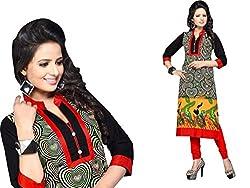 RR Fashion Women's Cotton KURTI (RRF3012_MULTICOLOUR)