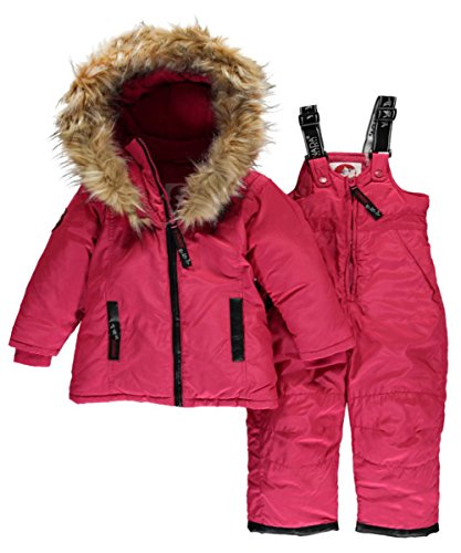 canada-weather-gear-baby-girls-logo-taping-2-piece-snowsuit-red-12-months