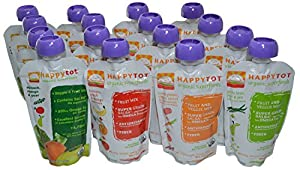 Happy Tot Organic Superfoods Stage 4, 4.22 OZ Baby Food Pouches Variety Pack of 16 by [Maker]