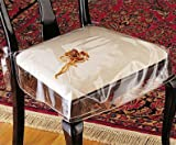 Clear Vinyl Chair Protectors - Set of 2 (Clear) (Fits Chairs up to 21