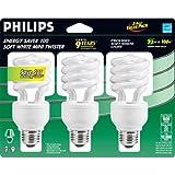 Philips 41809-5 Energy Saver Mini Twister Light Bulbs (Set of 3)