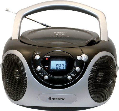 Roadstar CDR-4230MP/BL Stereo CD/MP3 Boombox schwarz