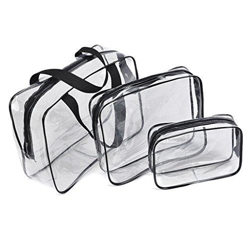 3 in 1 borsa porta trucchi in pvc trasparente organizer - Trousse porta trucchi ...