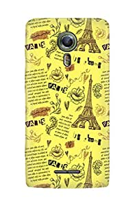 ZAPCASE PRINTED BACK COVER FOR ALCATEL ONETOUCH FLASH 2