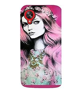 PrintVisa Beautiful Girl Art 3D Hard Polycarbonate Designer Back Case Cover for LG Google Nexus 5