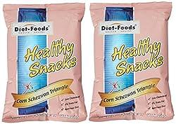 Diet Food Corn Schezwan Flavor Triangles, 150g (Pack of 2)