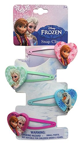 Frozen Glitter Snap Clips - 1