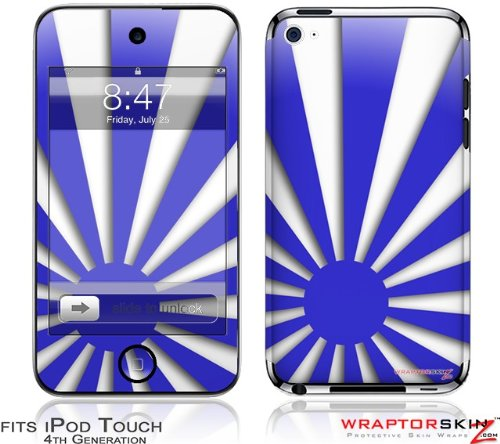 iPod Touch 4G Skin - Rising Sun Japanese Flag Blue by WraptorSkinz