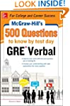 McGraw-Hill Education 500 GRE Verbal...