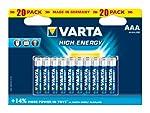 Varta High Energy AAA Batteries 20-Pack by Varta Consumer Batteries
