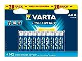 Varta High Energy AAA Batteries 20-Pack