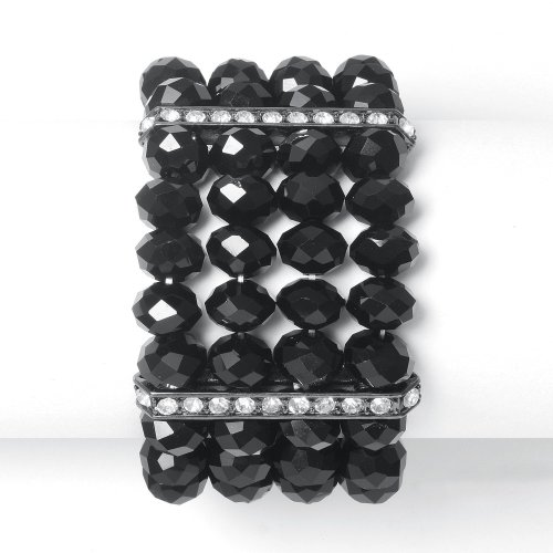 Bold Stretch Bracelet with Oval Crystals