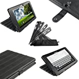 IGadgitz Black 'ArmourDillo' PU Leather Case Cover for Asus Eee Pad Transformer TF101 TF101G 10.1