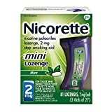 Mini Nicorette Nicotine Lozenge to Stop Smoking, 2mg, Mint Flavor, 81 Count