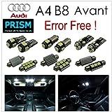 アウディ Audi A4 S4 B8 / S4 8K アバント ('08.8~'12.3 )【 室内灯 パーフェクトセット】LED 16カ所 キャンセラー内蔵  ルームランプ 6000K