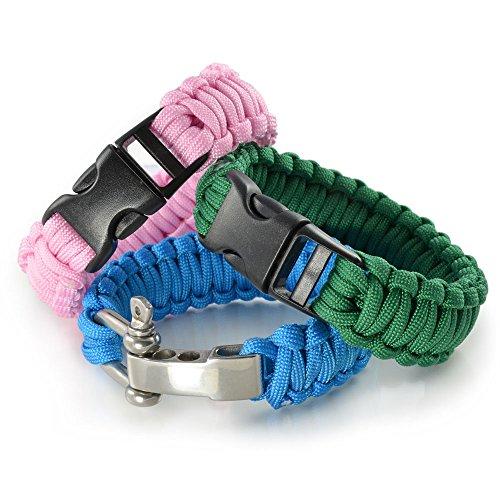 paracorde-550-Corde-Kit-de-dmarrage-avec-3-Unicolore-klickve-rschlssen-pour-bracelet-knpfen-de-laisse-pour-chien-ou-pour-chien-collier--faire-soi-mmecorde-avec-4-mm-dpaisseurcorde-multi-usagecorde-de-