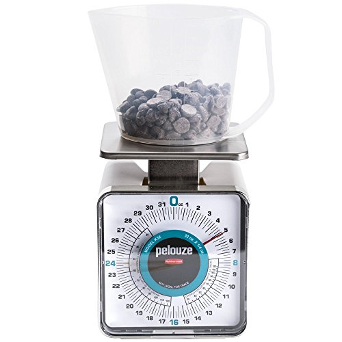 Rubbermaid Pelouze K32 32 oz. Ice Cream Over Run Scale with 1 Pint Measuring Cup (FGK32)