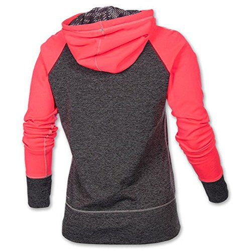 nike women 39 s therma fit all time swoosh pullover training hoodie grey pink small apparel. Black Bedroom Furniture Sets. Home Design Ideas