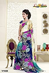 soham enterprise Multicolor Coloured 20 Fabulouse Saree