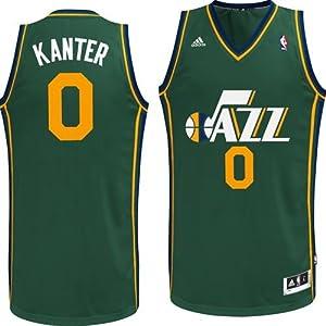 Utah Jazz Enes Kanter #0 Swingman Jersey (Green) by adidas