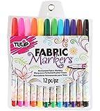 Tulip Fabric Markers Fine Tip 12pk