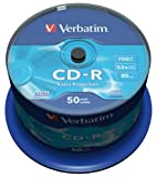 Verbatim 43351 700MB 52x CD-R Extra Protection 50 pack Spindle