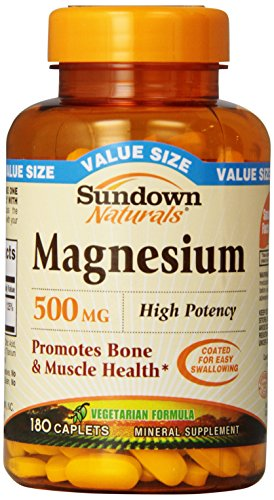 Sundown Naturals® Magnesium 500 mg, 180 Caplets