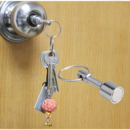 2 Pcs Super Strong Neodymium Pocket Chain Split Ring Keyrings Magnet Holder (Super Strong Split Rings compare prices)