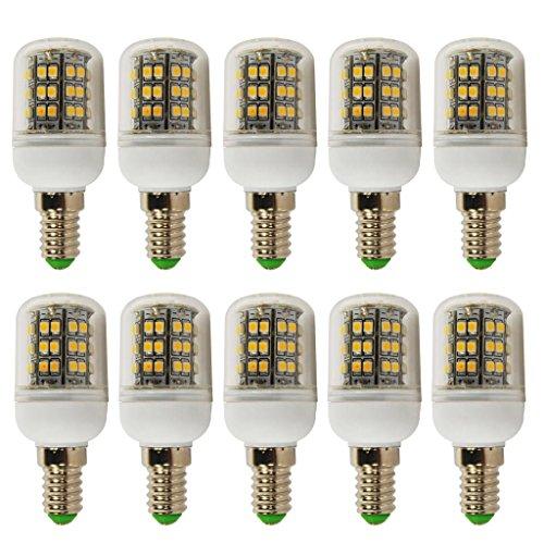 10Pcs 4W E14 Led Light 3528 Smd Ultra Bright Lamp Bulb Warm White 200-260V