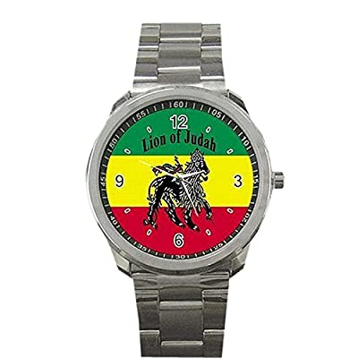 Wrist Watches XBBL097 Rasta Jamaica Lion Jamaican Rare Metal Sports Watch New