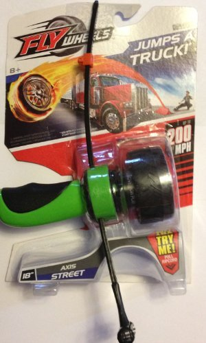 "Fly Wheels 18"" Street - ""Axis"" with Tire, Ripcord & Handle (Green) - 1"