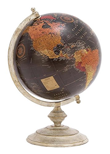 Deco 79 Metal Globe, 12-Inch by 18-Inch 0