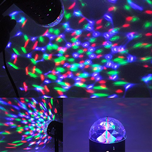 Why Choose ANNT® Disco Dj Stage Lighting Rotating Strobe LED RGB Crystal Rainbow Color Effect Light...