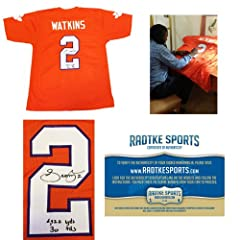 Sammy Watkins Autographed Signed Clemson Tigers Custom Jersey with Career Stats...