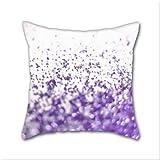 Cotton Linen Throw Pillow, Decorative Pillows.? Purple Cotton Linen Square Decorative Throw Pillow Case Cushion Cover 18 x 18 Inch