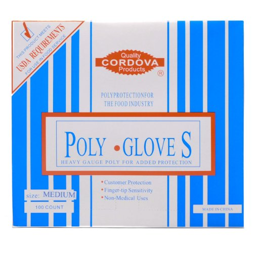 Food Service Polyethelyne Gloves Medium 100/Bx