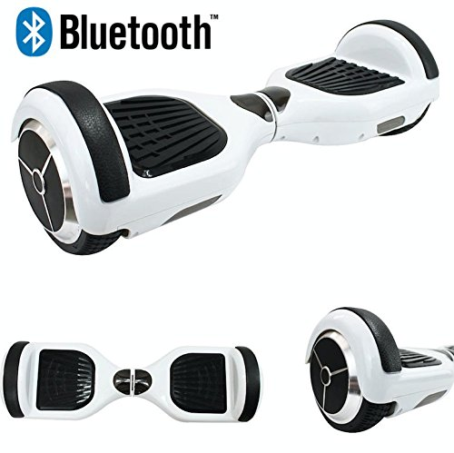 Rebo 2 Wheel Hoverboard Self Balancing Electric Scooter Swegway Hover Board / Bluetooth / Samsung Battery / Carry Bag / Remote / UK Stock / 3 Colours (White)
