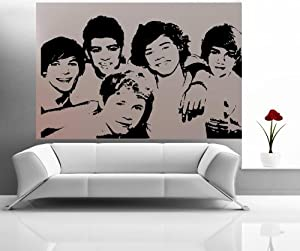 "ONE DIRECTION: FACES~ WALL DECAL, HOME DECOR 23"" x 35"" from Best Priced Decals"