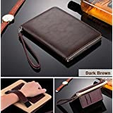 For Apple IPAD 2/3/4 Case [Dark Brown] Business Class ULTRA SLiM Premium Luxury Leather Smart Flip Case Flip Cover...