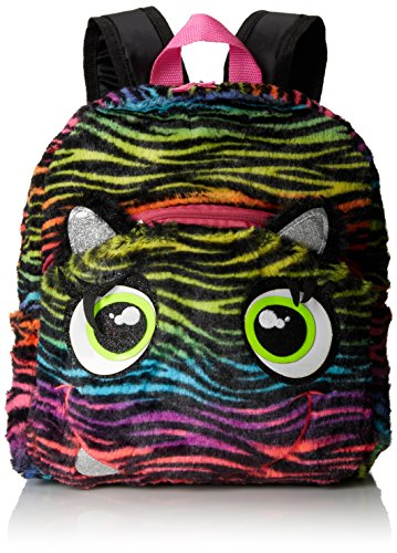 Accessories 22 Little Girls'  Rainbow Zebra Plush Mini Backpack - 1