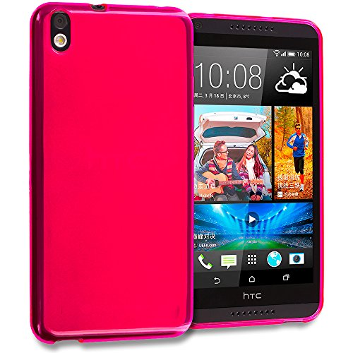 Accessory Planet(TM) Hot Pink TPU Rubber Skin Case Cover Accessory for HTC Desire 816