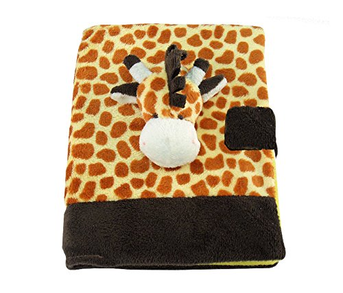 Puzzled Giraffe Plush Notebook