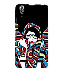 Designed Girl Back Case Cover for Lenovo A6000