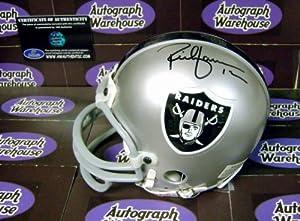 Rich Gannon autographed Mini Helmet (Oakland Raiders)