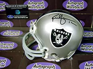 Rich Gannon autographed Mini Helmet (Oakland Raiders)