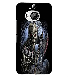 PrintDhaba Double Skeleton D-2385 Back Case Cover for HTC ONE M9 PLUS (Multi-Coloured)