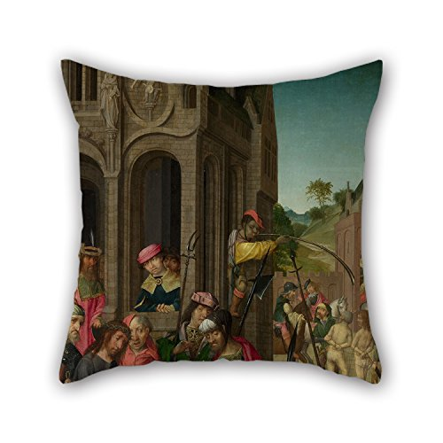 Artistdecor The Oil Painting Master Of Delft - Christ Presented To The People- Left Hand Panel Pillow Shams Of ,20